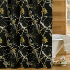 AP Black Shower Curtain